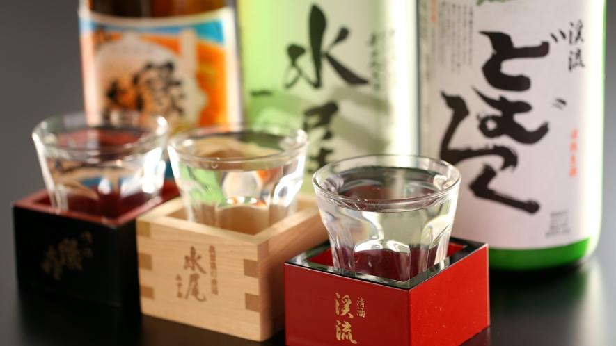 美味しい地酒、日本酒も取り揃えております