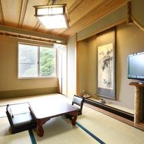 竹の間:竹細工が随所に施された凝った造り