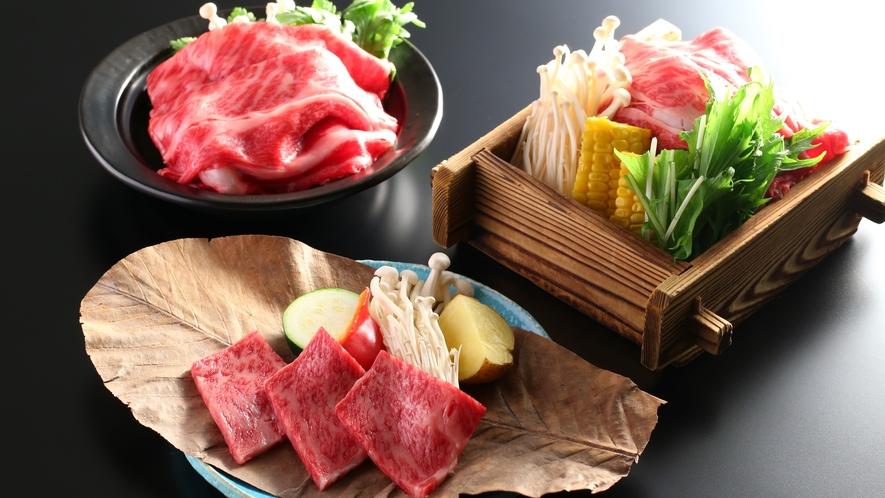 信州牛を使った3種のメイン料理