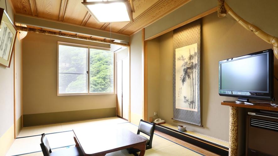 竹の間 竹細工が随所に施された凝った造り