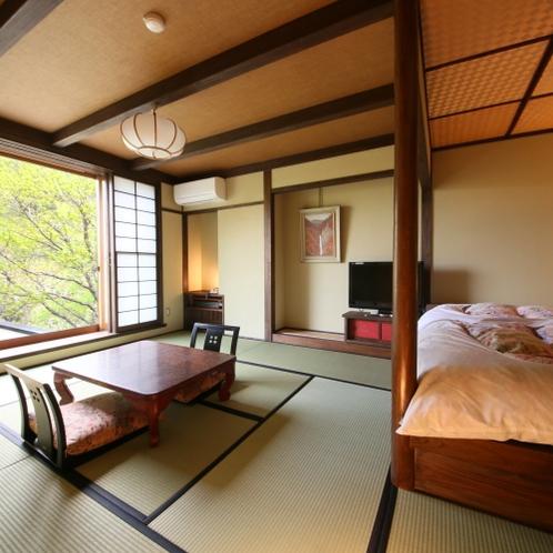 和モダン客室。窓からの景色が美しい♪