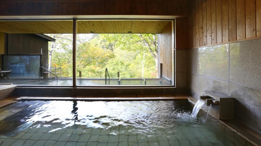 ■大浴場 内湯は透明な単純泉(川原小屋温泉)
