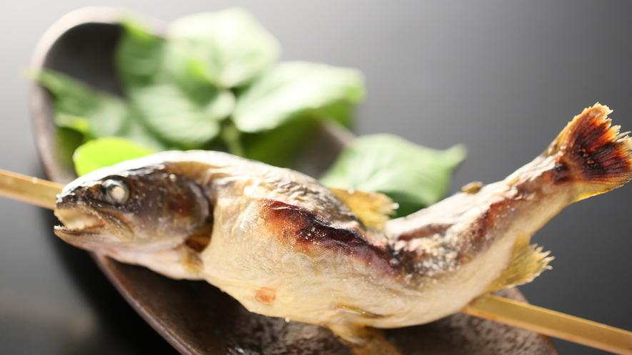定評のある岩魚の塩焼き