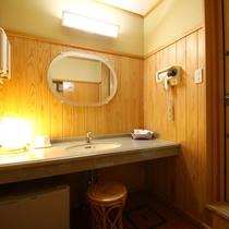 ゑ法師・笠法師客室の洗面スペース:広くて使いやすい