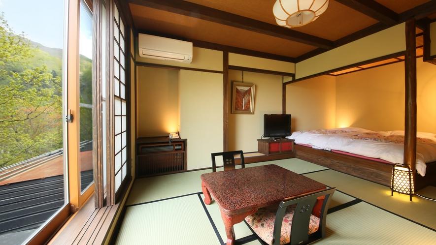 和モダン風客室 和の趣を重んじながら和モダンテイストを取り入れた落ち着きと柔らかさある空間