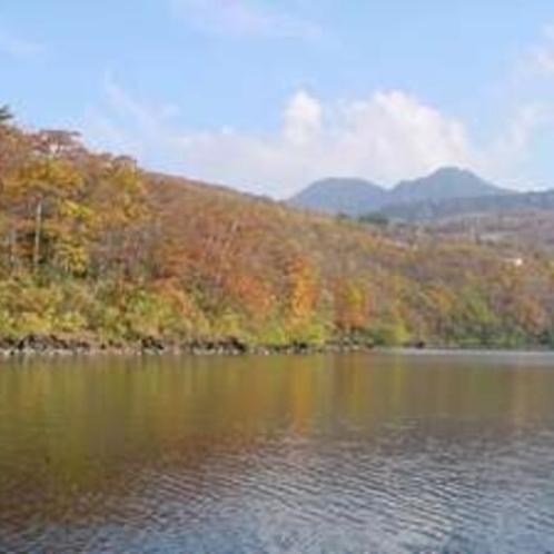 琵琶池の紅葉