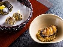 秋・冬 鮑の天麩羅と鮑のステーキご飯
