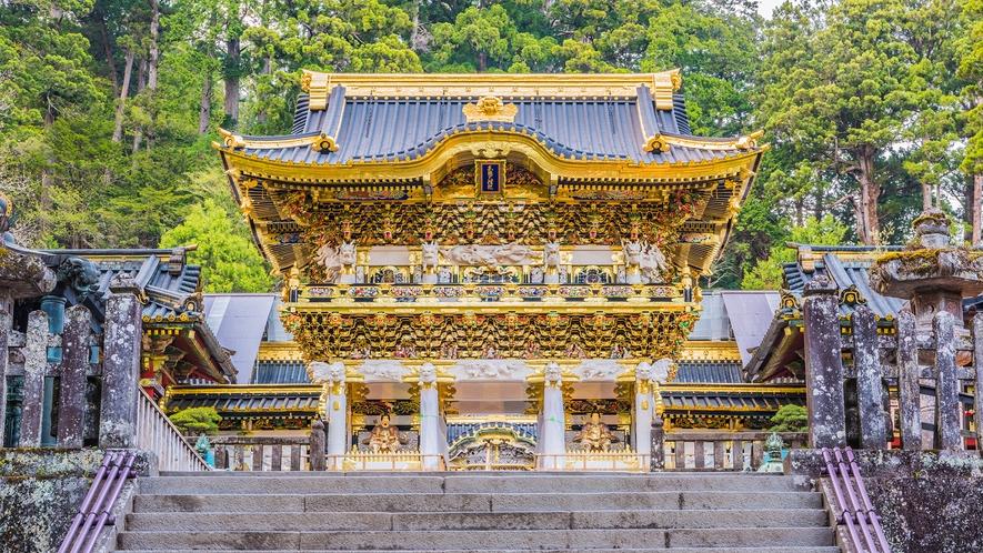 **【日光東照宮】徳川家康公を祀る神社。全国各地の名工により豪華絢爛な漆や極彩色が施されています。