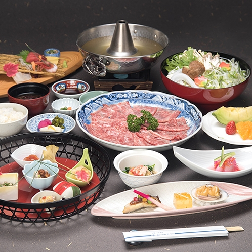 *特選料理プラン「和牛しゃぶしゃぶ」/相性抜群の特製ダレをご用意!
