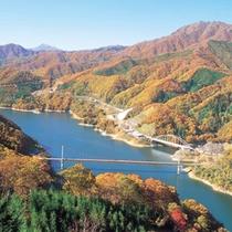 福井県の紅葉の名所・九頭竜湖
