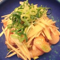 2018年夏モーニングメニュー「北海道産帆立と針生姜の地辛子酢味噌和え」