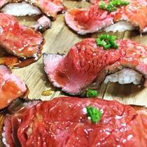 海×肉フェス2019「若狭牛の肉寿司」