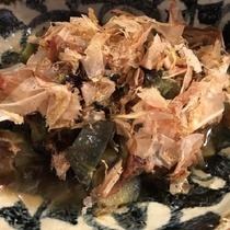 2017年初秋モーニングメニュー「秋茄子の揚げ煮おかか和え」