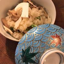 2019年秋ディナーメニュー「生松茸ご飯」
