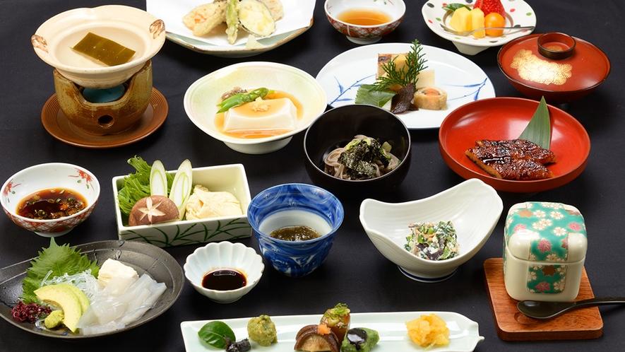 *【精進料理 一例】安来・清水寺境内の宿、松琴館主人自慢料理です。