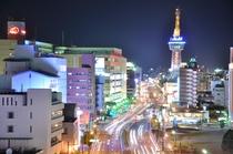 別府市内の夜の風景