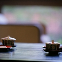 寛ぎの空間でまずはお茶をいっぱい・・・