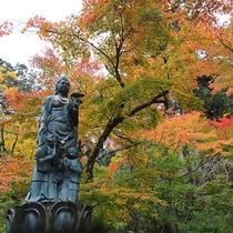 加賀の紅葉の名所「那谷寺」は当館より車で約10分。