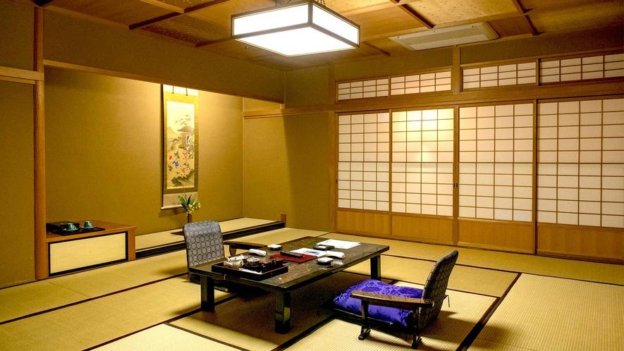 【秋の館・特別室/重陽の間】モダンメゾネット特別室。1Fに一間、2Fに二間お部屋がございます