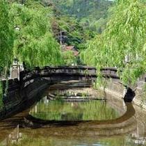 城崎温泉、街並み(川沿い)
