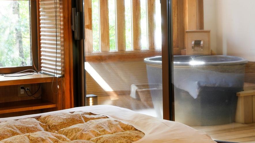 露天風呂付き客室(ベッドタイプのお部屋)