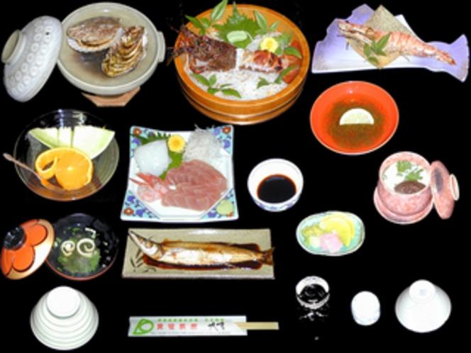 夕食献立・海鮮会席・活伊勢海老料理セットプラン