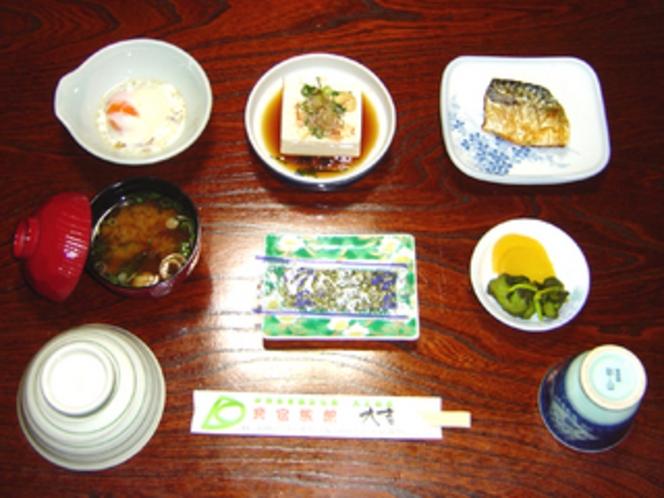 朝食・松プラン以上の・春季〜秋季のセットです。