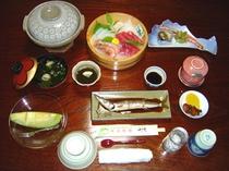 夕食・海鮮会席・松プラン・冬季〜春季のセットです。