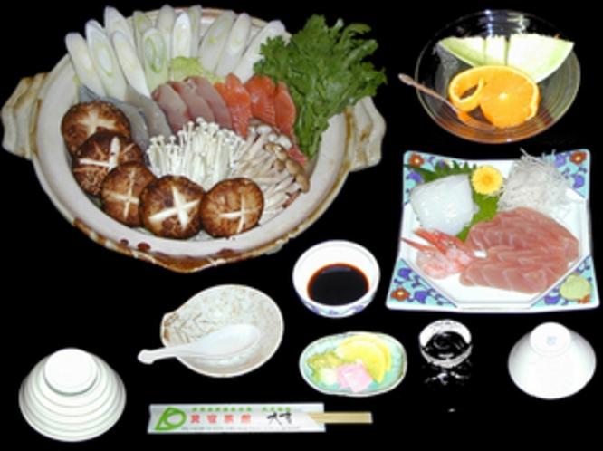 夕食献立・魚すきセットプラン