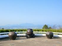 オリエンタルトリップの展望台からは讃岐富士が