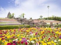 オリエンタルトリップは季節の花々が咲き誇る
