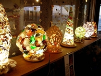 レストラン 貝殻ランプ