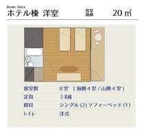 【ホテル棟】洋室間取り