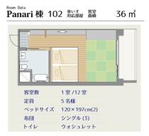 パナリ館102号室間取り図