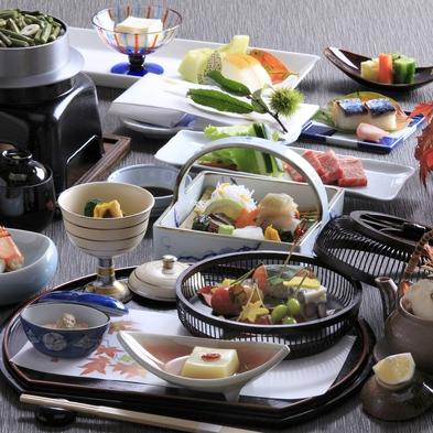 【夕食グレードup】 料理長おすすめ会席料理をご堪能!! ※豊後牛