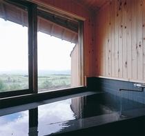 展望内湯付き客室の内風呂
