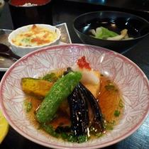*【夕食一例】高原野菜の「揚げ出し」。