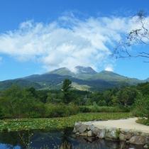 *【周辺】標高2454mの妙高山を水面にくっきり映し出すいもり池。