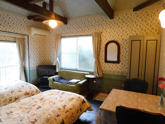 バルコニー付クローゼットの有る9畳の洋室