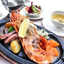 *お夕食例「鉄板焼きステーキ&ロブスター」