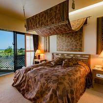 オーシャンスイート【90平米】セミダブルのベッドルーム