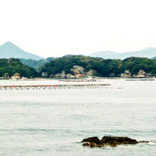 【遊覧船から見た九十九島風景】