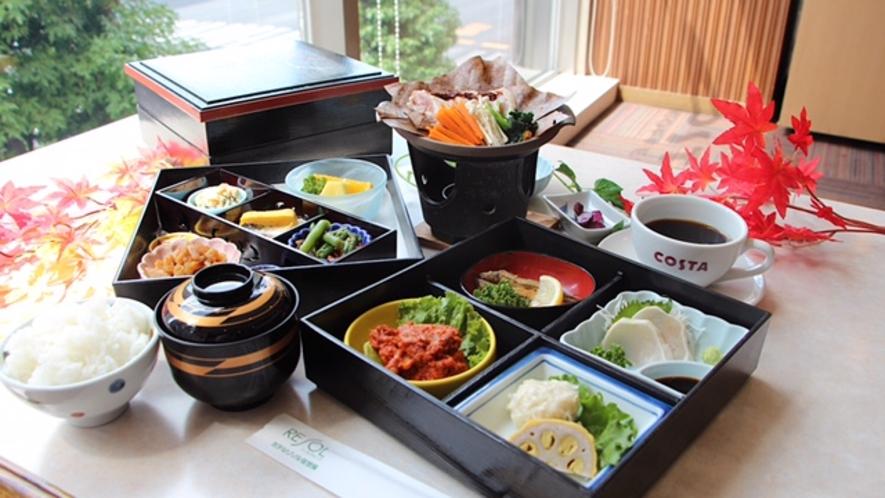 九州地方の食材をぎゅっと詰め込んだミニ会席風朝食(画像イメージ)