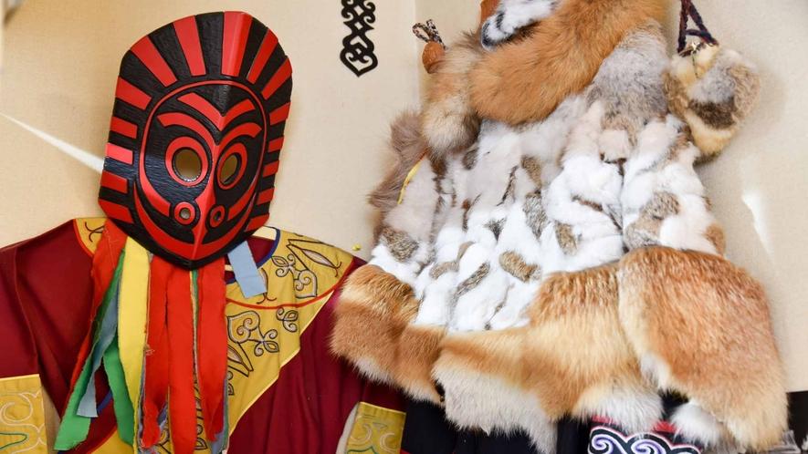 *館内一例:アイヌ文化よりも古い時代の北海道を垣間見られる貴重なものも揃っています