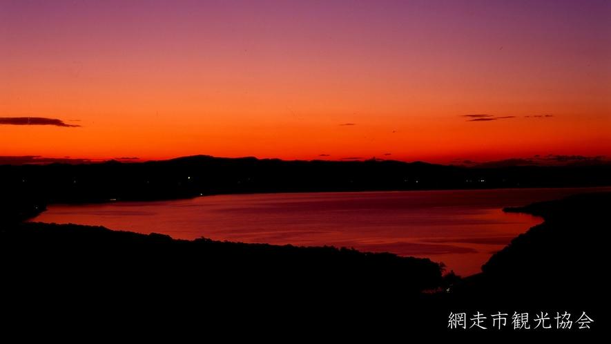 *[網走湖]網走湖を一望するなら当館から車で約10分の天群山展望台がおすすめ