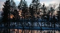 *[風景/冬]日没の網走川河岸。四季折々に姿を変える景観美