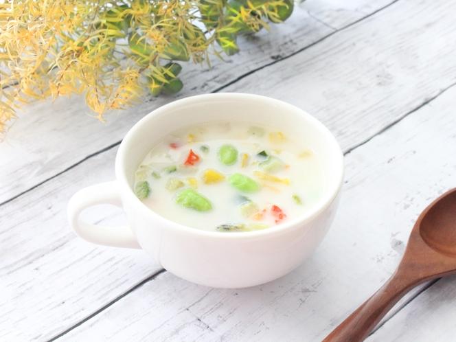 【春限定:枝豆のベジポタージュ】