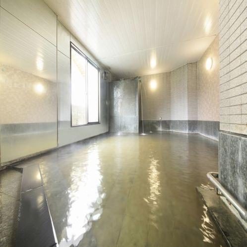 ■大浴場「河じかの湯」(男性)/豊富なお湯にゆっくりつかってください。