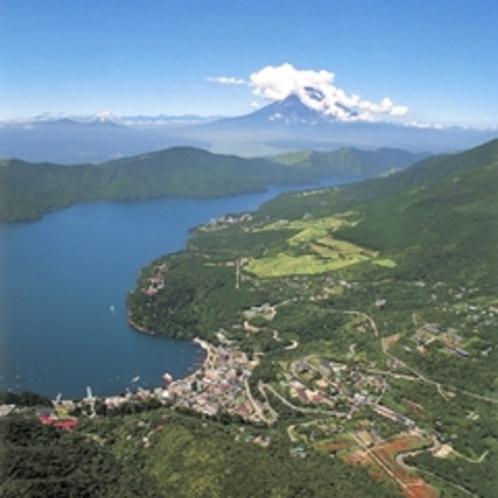 夏の芦ノ湖の風景