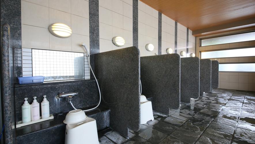男子大浴場(洗い場)